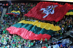 Lithuania_and_historical_Vytis_flags_during_EuroBasket_2011