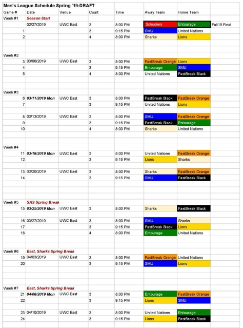 Men s League Schedule Spring 19-DRAFT - 20190227-page-001